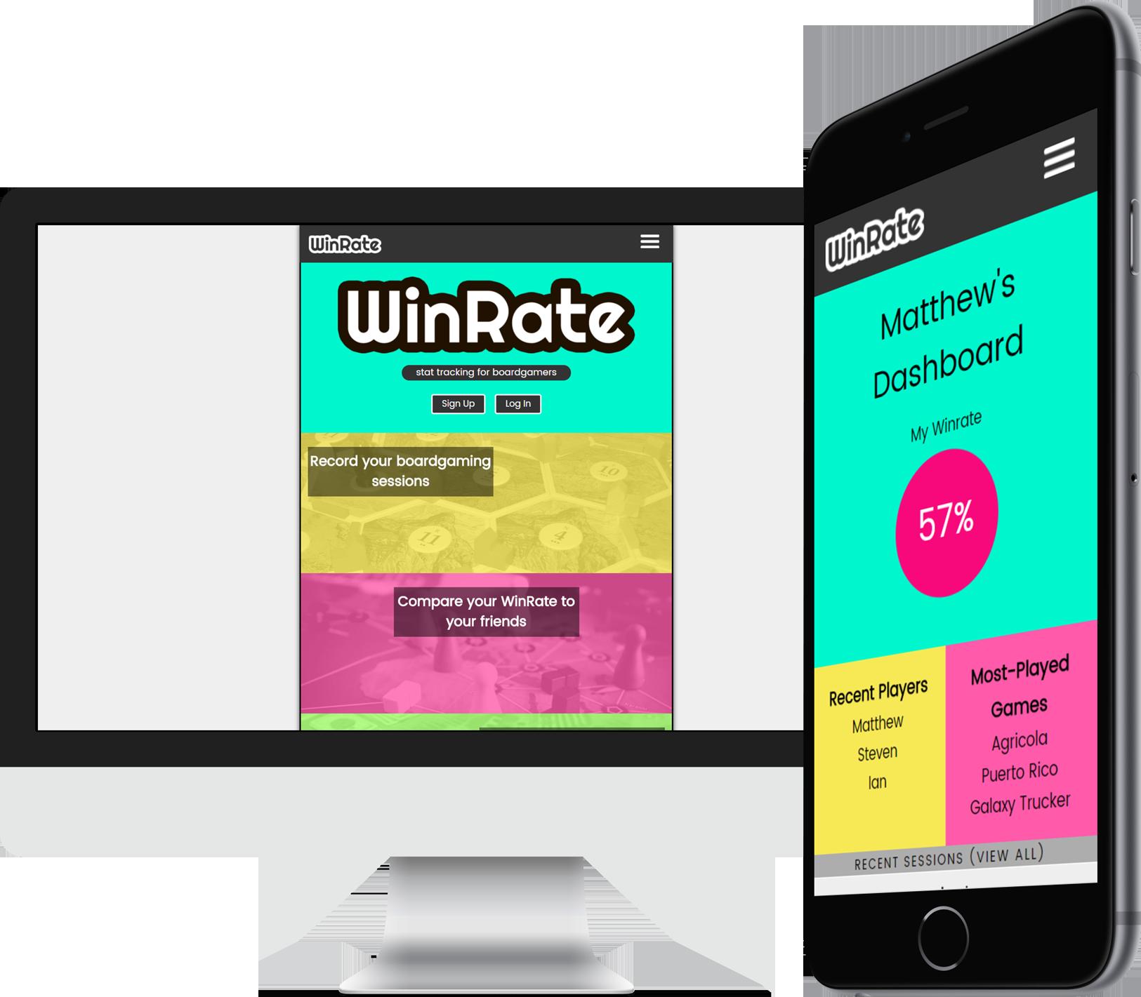 Screenshots of WinRate
