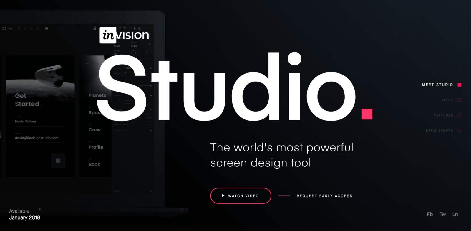 InVision Studio hero image