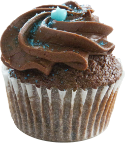 Chocolate With chocolate buttercream frosting