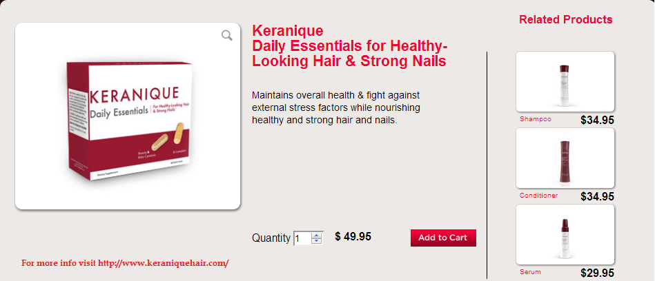 Keranique Hair Products Reviews