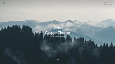Screenshot of a page created with Hugo starter blog theme - Casper