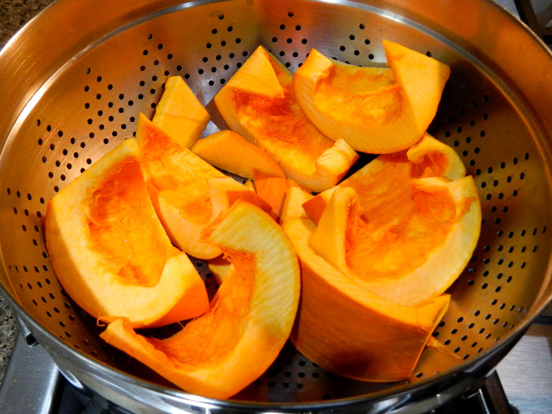 Pumpkin Wedges in Steamer