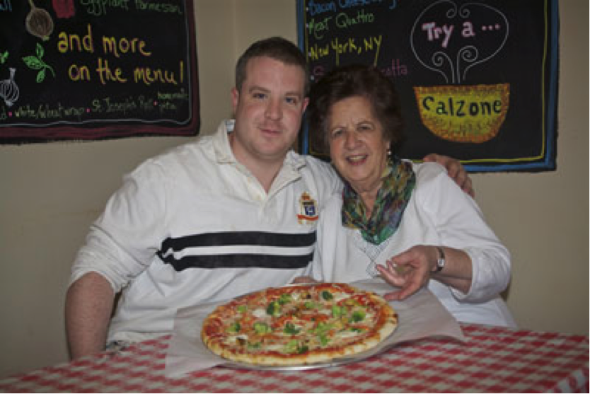 photo of Prides Deli owner Michael Magner with Concettina Mantella