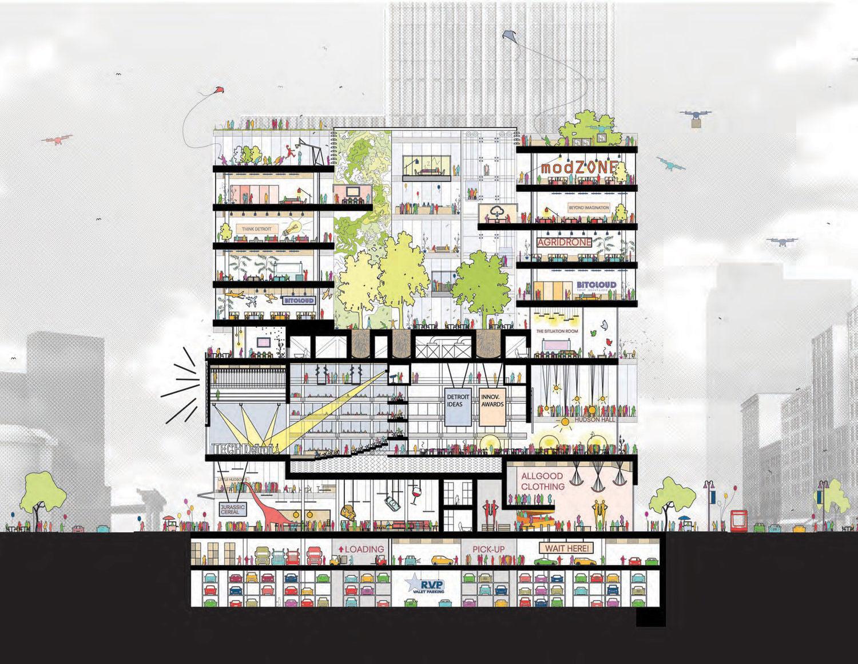 Detroit Hudson Block 800 Ft 58 Floors Site Prep