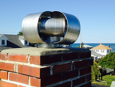 Wind resistant chimney cap in Scituate, MA.
