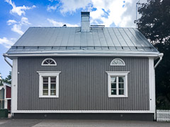 A cute house in the town of Porvoo. Porvoo, Finland, 2017