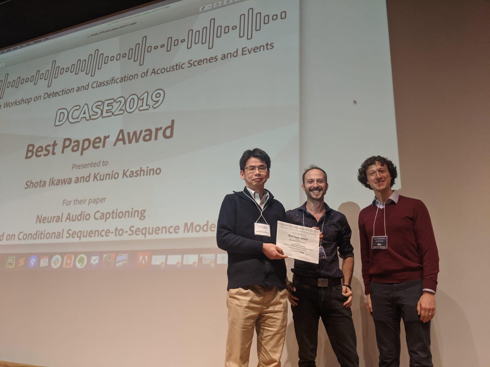 DCASE 2019 Best Paper Award