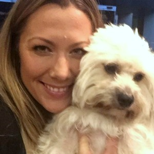 Singer Colbie Caillat and her dog Mate