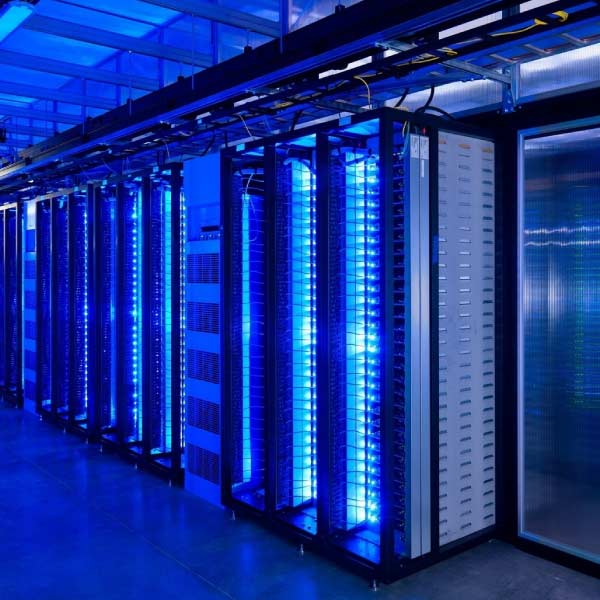 Row of data servers.