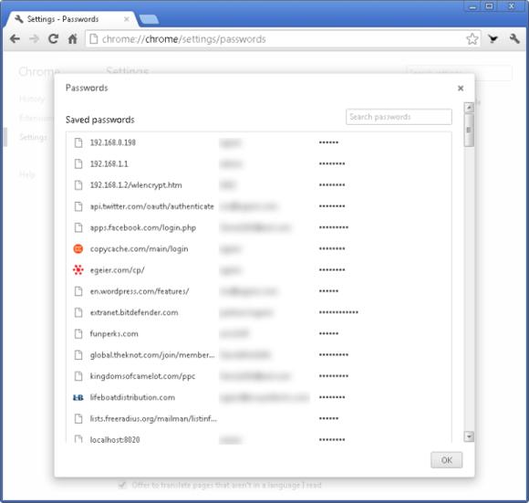 Sécuriser les mots de passe sur Chrome