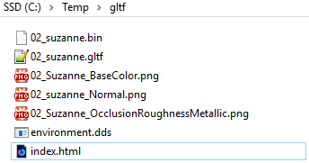 gltf default folder example