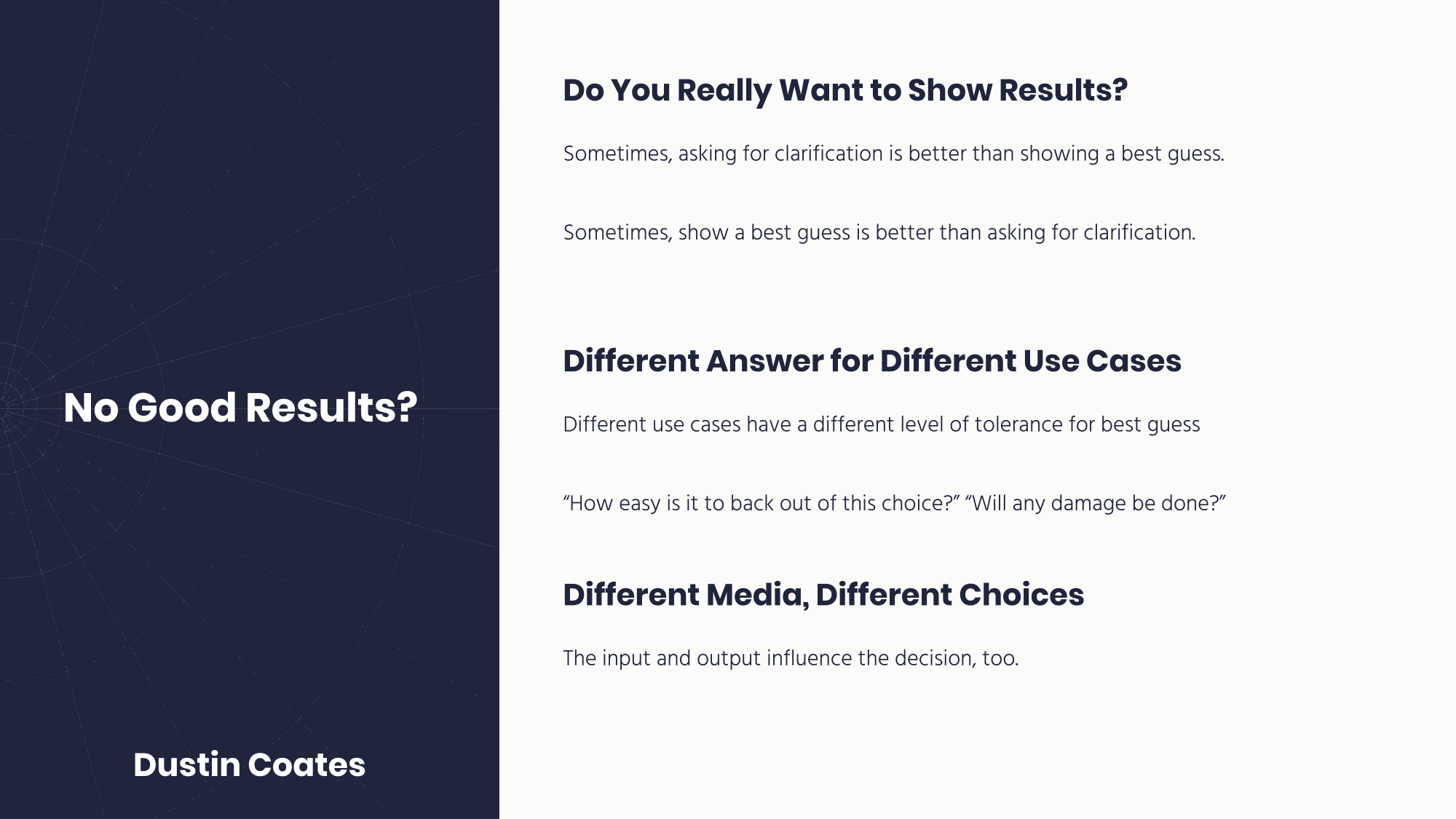 What to do if there are no good search results
