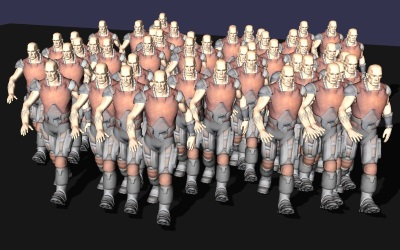 WebGL scene for INSTANCED BONES