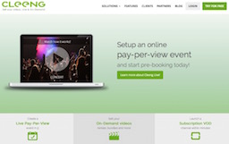 Cleeng, Live pay-per-view and video-on-demand Saas
