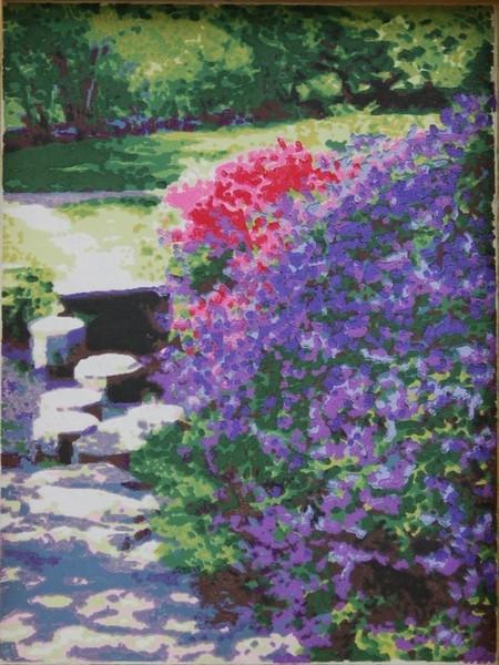 Asticou Azalea Garden woodblock print