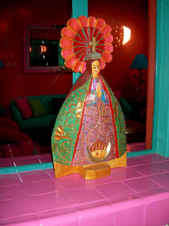 The Virgen de la Salud welcomes visitors and bestows good health & lightness of being!
