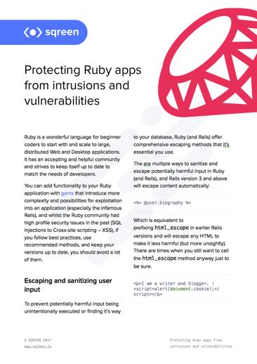 Ruby Vulnerabilities