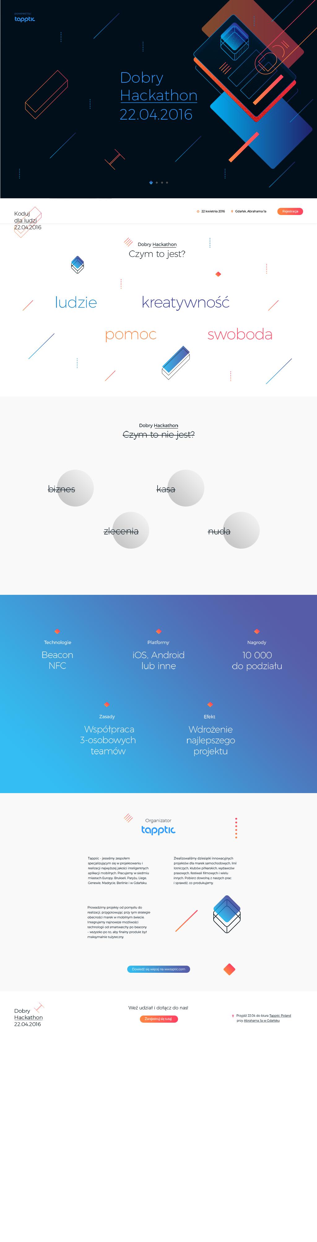 hackathon website preview