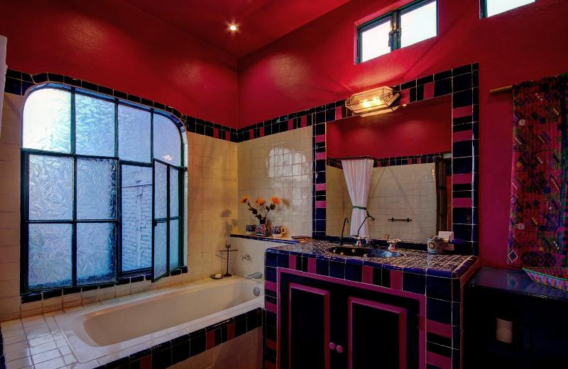 Upstairs Bathroom has a tub, shower, endless hot water, filtered water & Bidet.