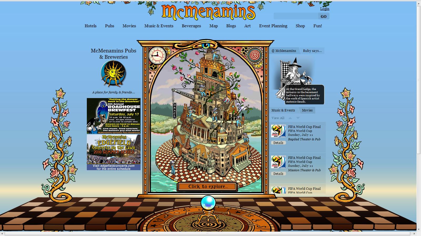 McMenamins home page