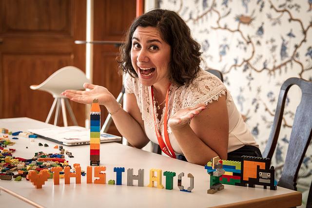 Una Kravets in Lego land
