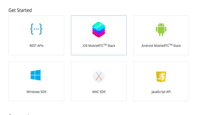 zoom developer portal options