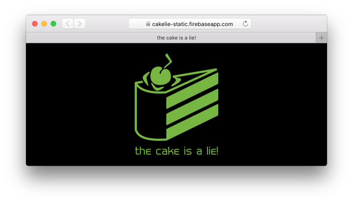 cakelie website in browser