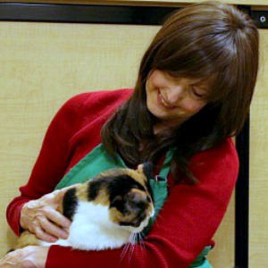 Diane Stevens with adoptable cats