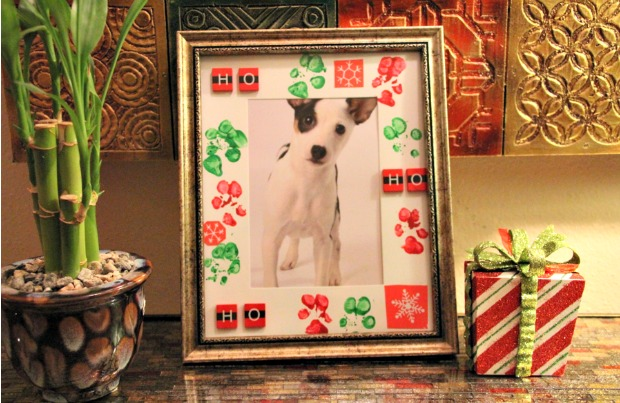 DIY pet holiday frame