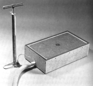 Picture of home built vacuum forming equipment