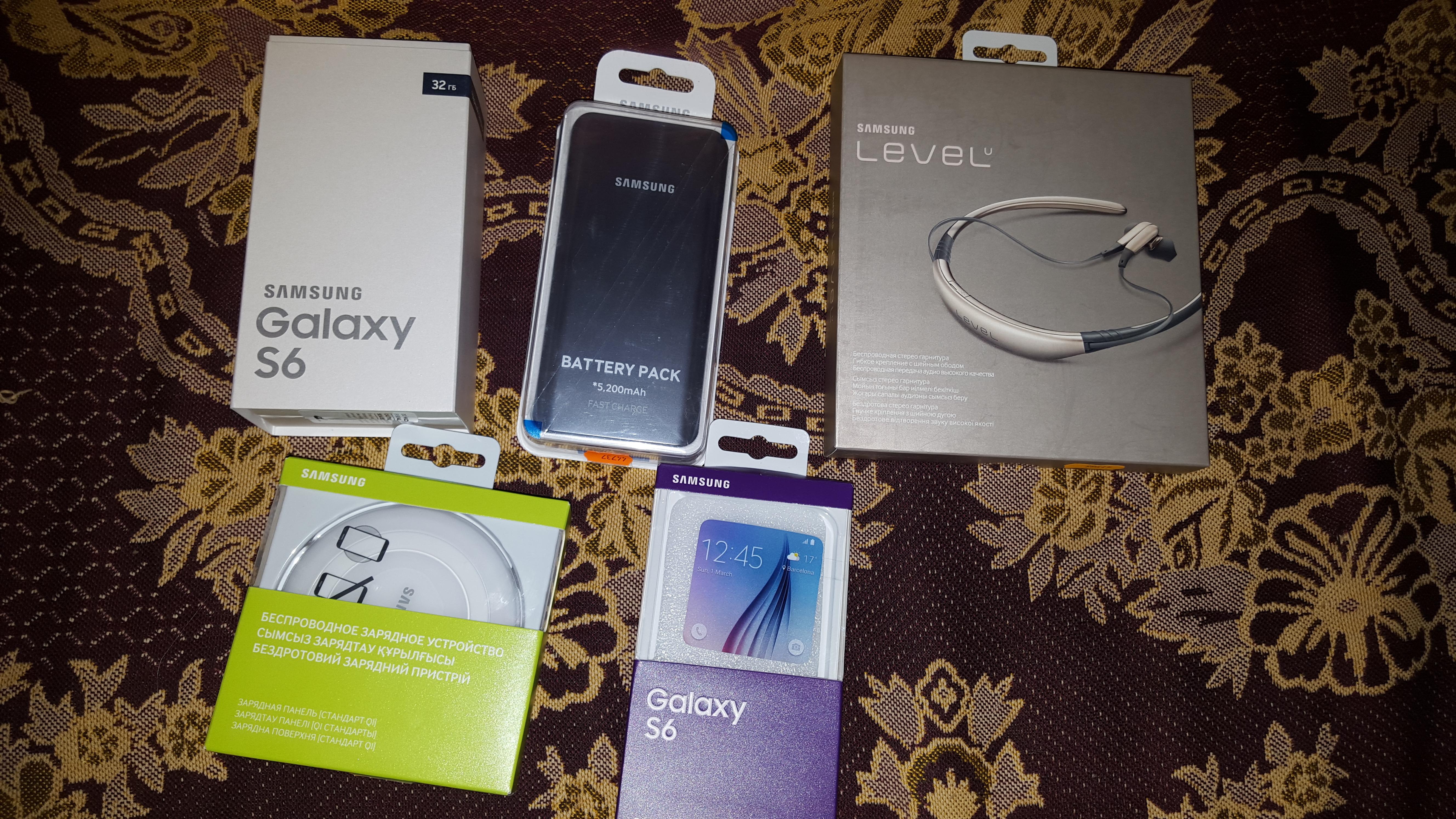 Samsung Galaxy S6, и килограмм аксессуаров, которые я к нему взял