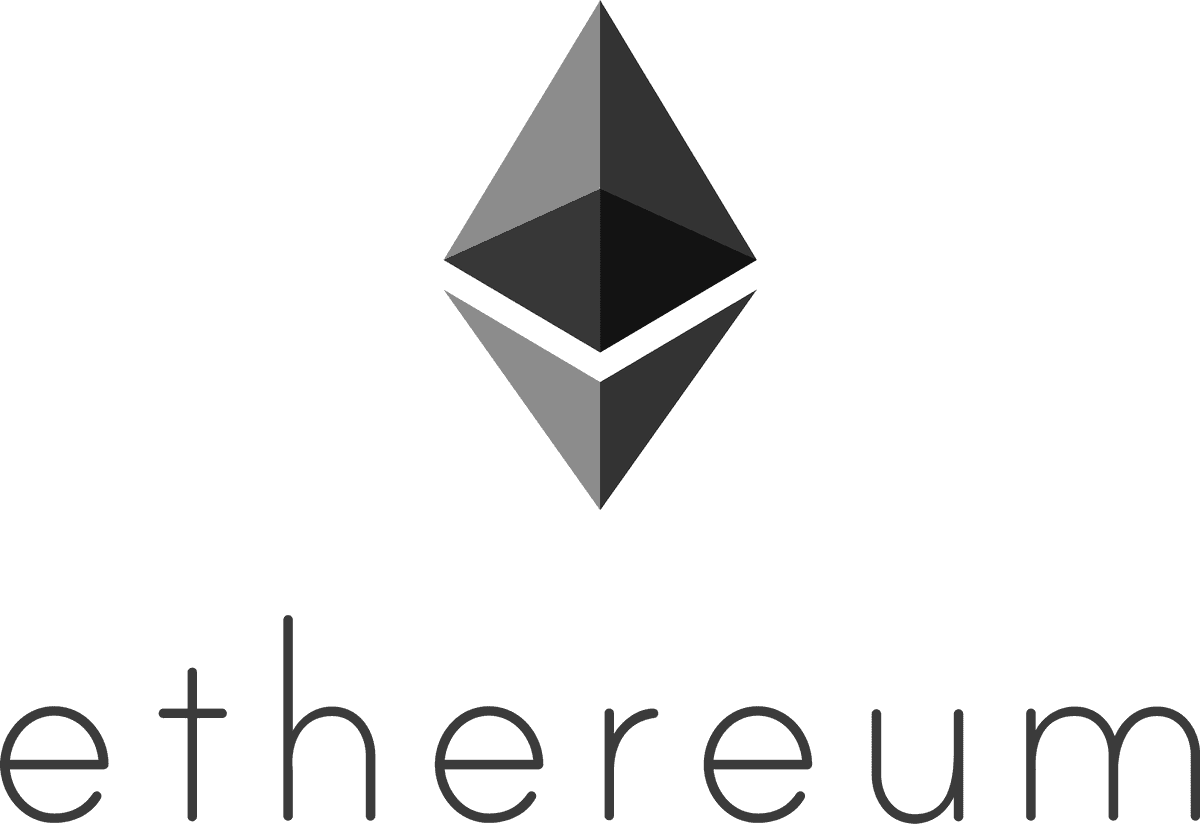 Ethereum logo portrait black