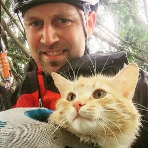 Canopy Cat making a rescue