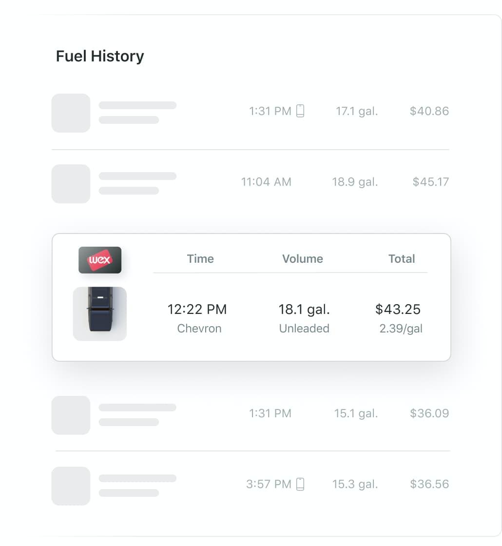 Fuel transactions