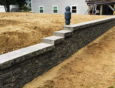 New Retaining Wall in Hanover, MA.