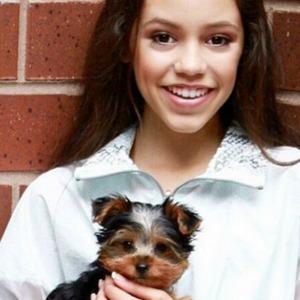 Jenna Ortega and her dog, Brooklyn.