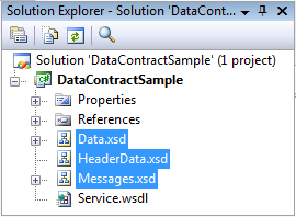 Source XSD files.