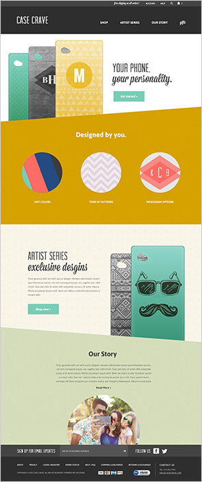 Online store template design