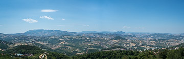 View from the central city of San Marino. San Marino, 2017