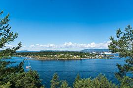 View from Gressholmen back toward Oslo. Gressholm, Oslo, Norway, 2017