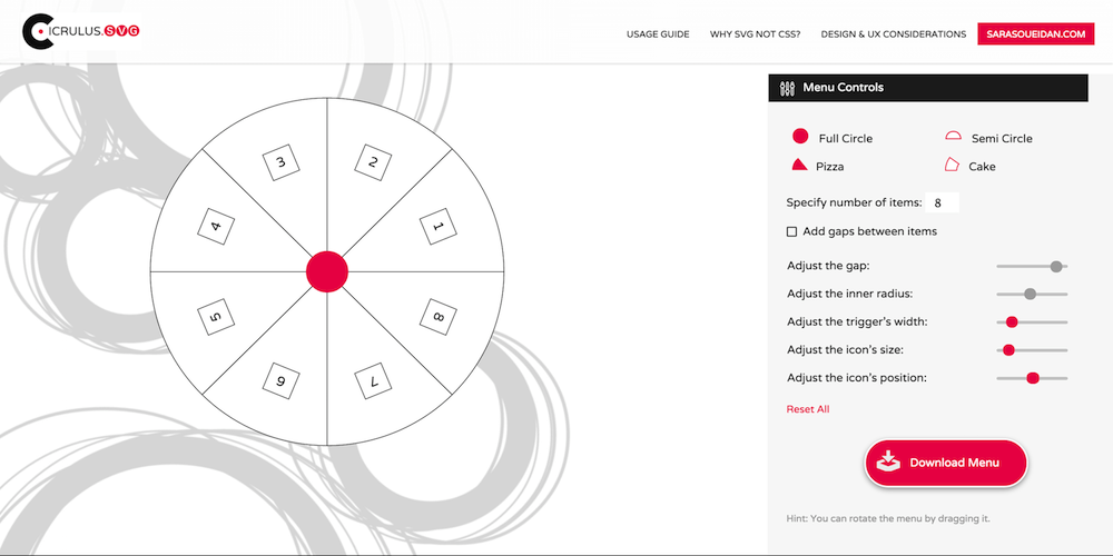 Screenshot of the Circulus.svg app