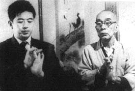 Takamatsu Sensei mit seinem Schüler Hatsumi.