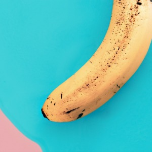 Banana on a colorful background