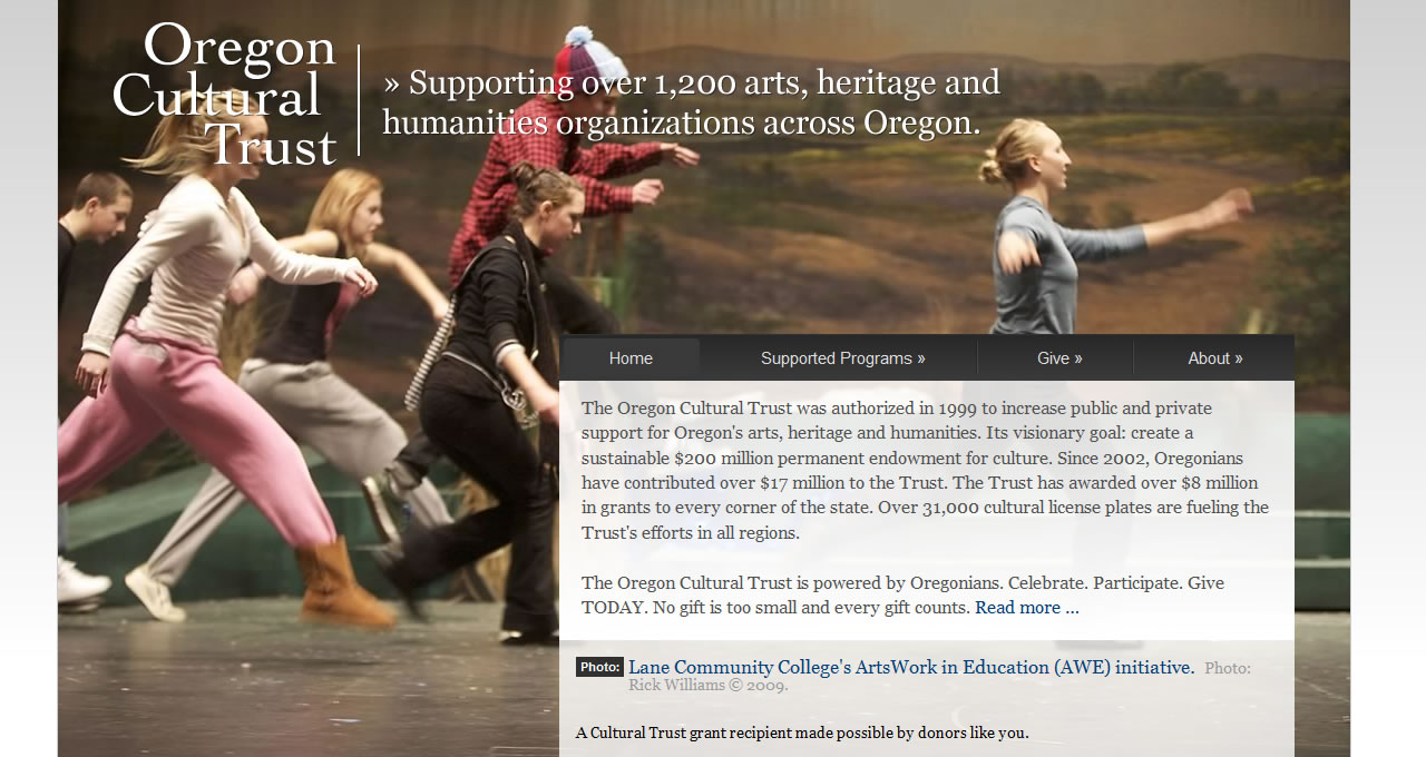 Oregon Cultural Trust home page