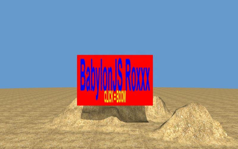 WebGL scene for BOOM