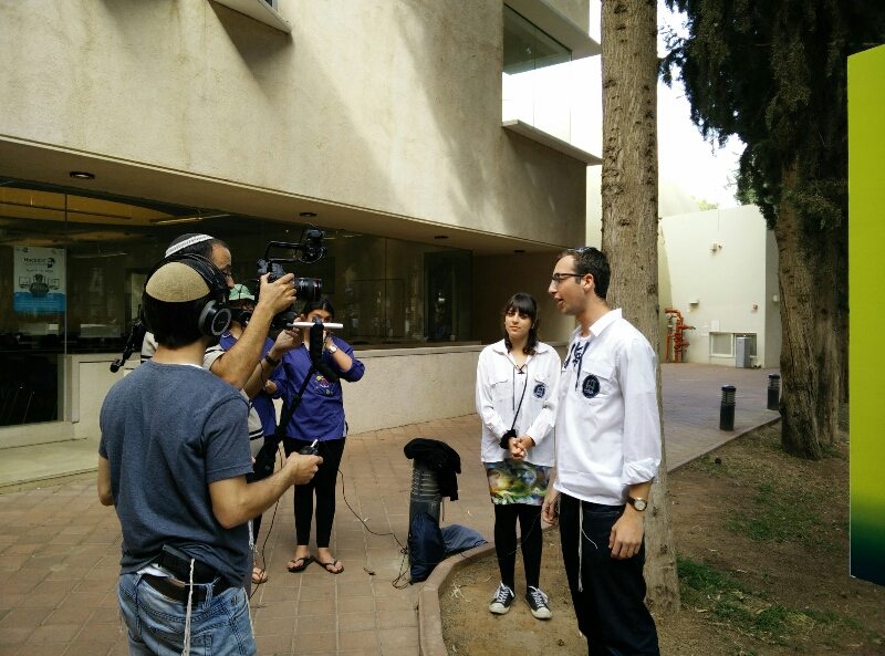 being filmed for television