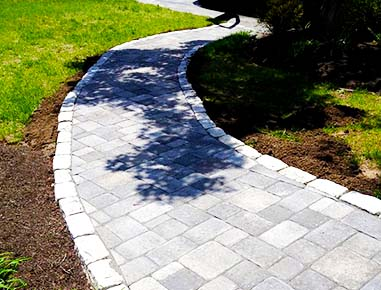 A new walkway installed in Lynnfield, MA.