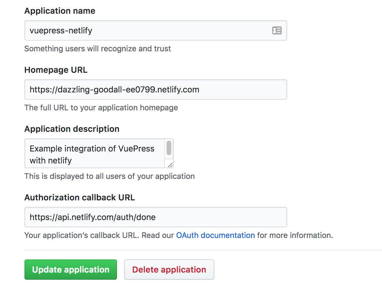 GitHub OAuth