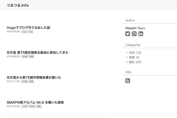 Personal blog of Masashi Tsuru