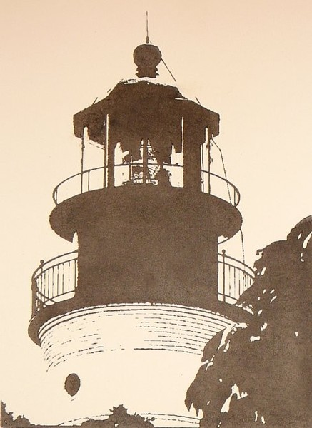 Key West Light woodblock print